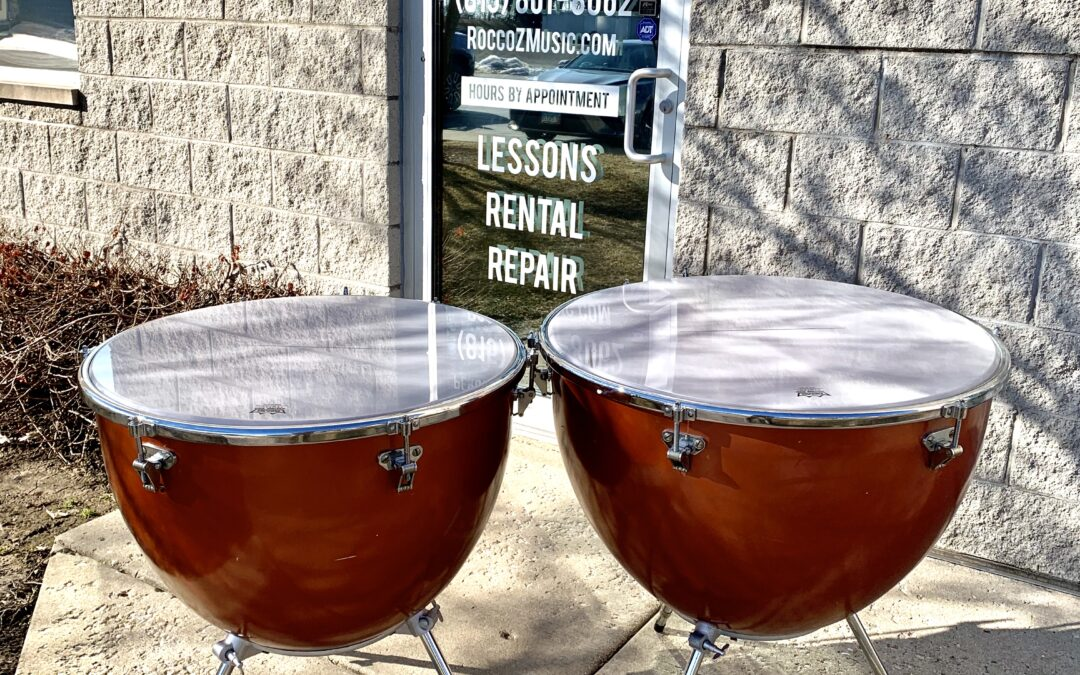 Pair of Ludwig Fiberglass Machine Timpani 25in & 28in – RENTAL/SALE