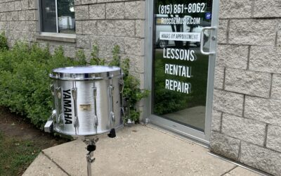 14in Silver Yamaha Marching Snare Drum – RENTAL/SALE