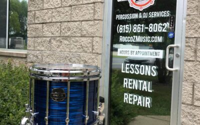 Brand New Mapex Quantum XT Marching Snare Blue Ripple Pearl – RENTAL/SALE