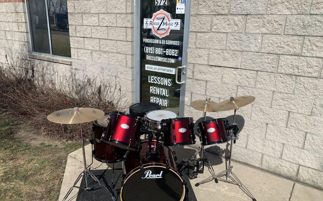 6 Piece Pearl Vision Drum Set W/ ZHT Cymbals – RENTAL/SALE