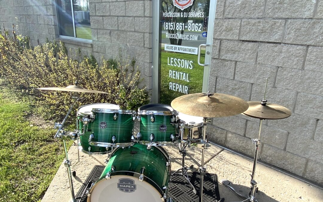 Mapex Armory Series Emerald Burst Drum Set Shell Pack – RENTAL/SALE